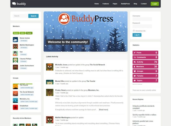 BuddyPress WordPress Forum ve Sosyal Ağ Eklentisi
